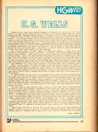 Medalion HG Wells în Almanahul Anticipația