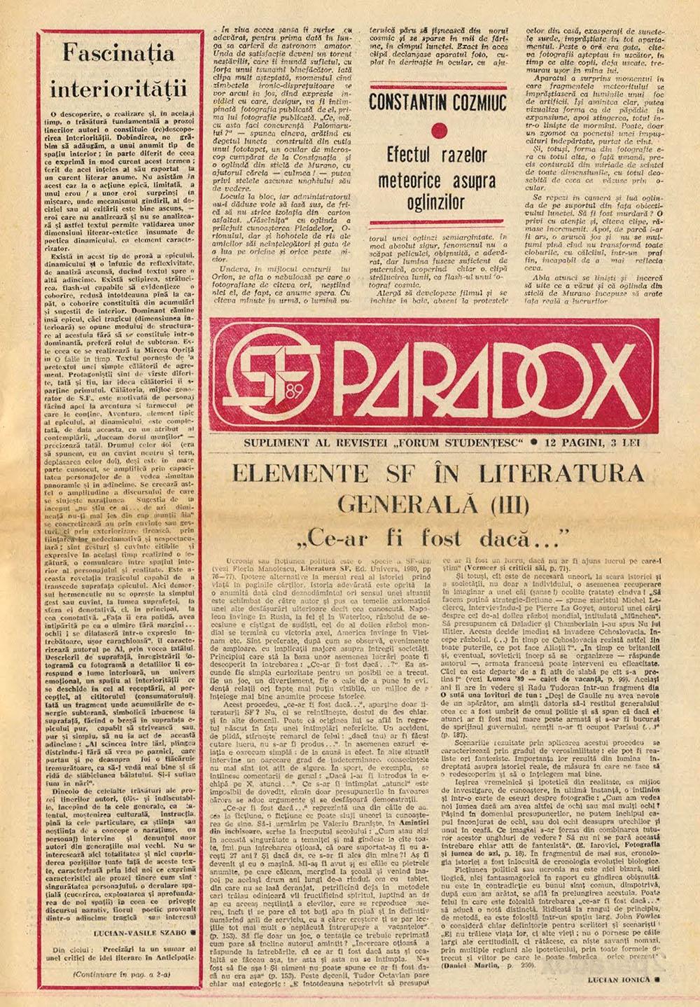 Paradox nr. 14/1989